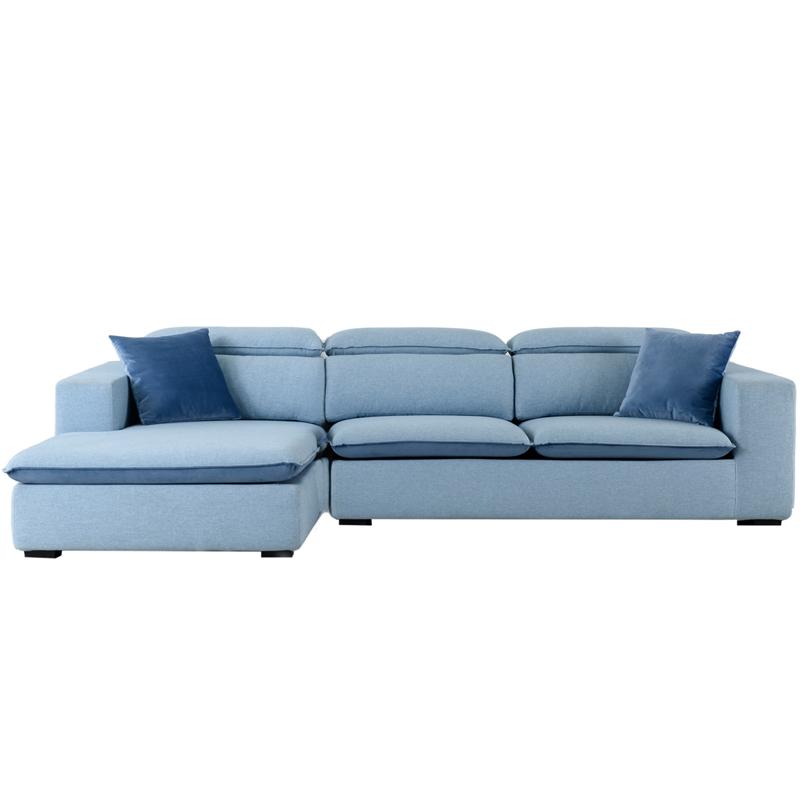 爱依瑞斯 现代可拆洗布艺转角沙发WFS-13