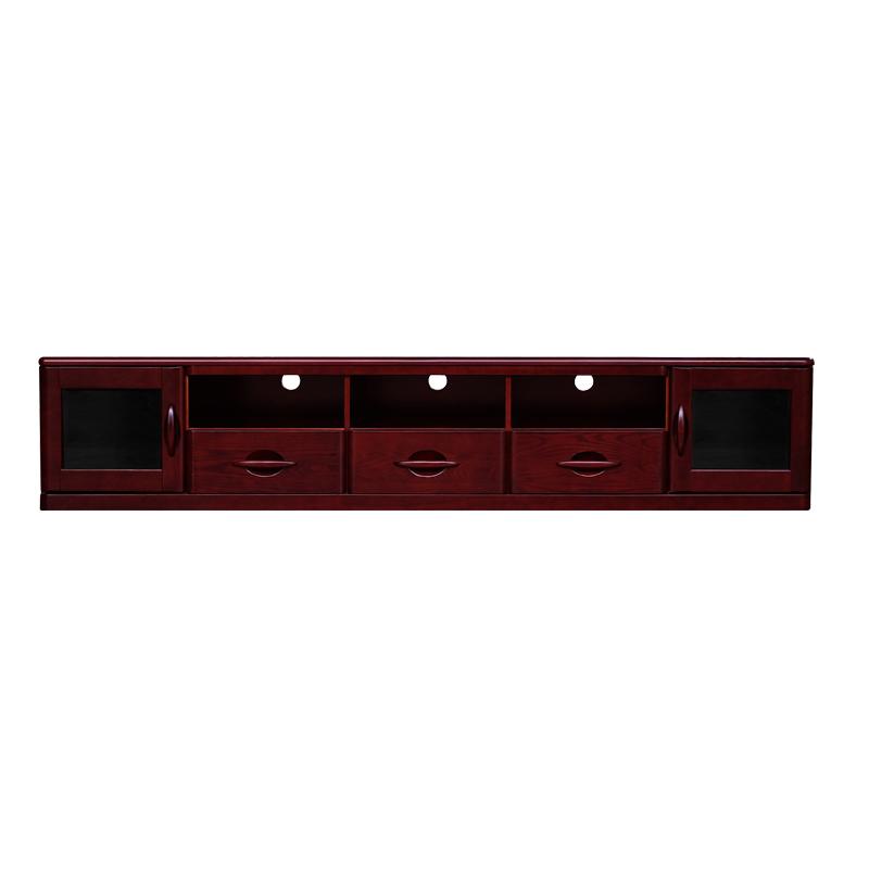 双叶 实木电视柜加长可储物