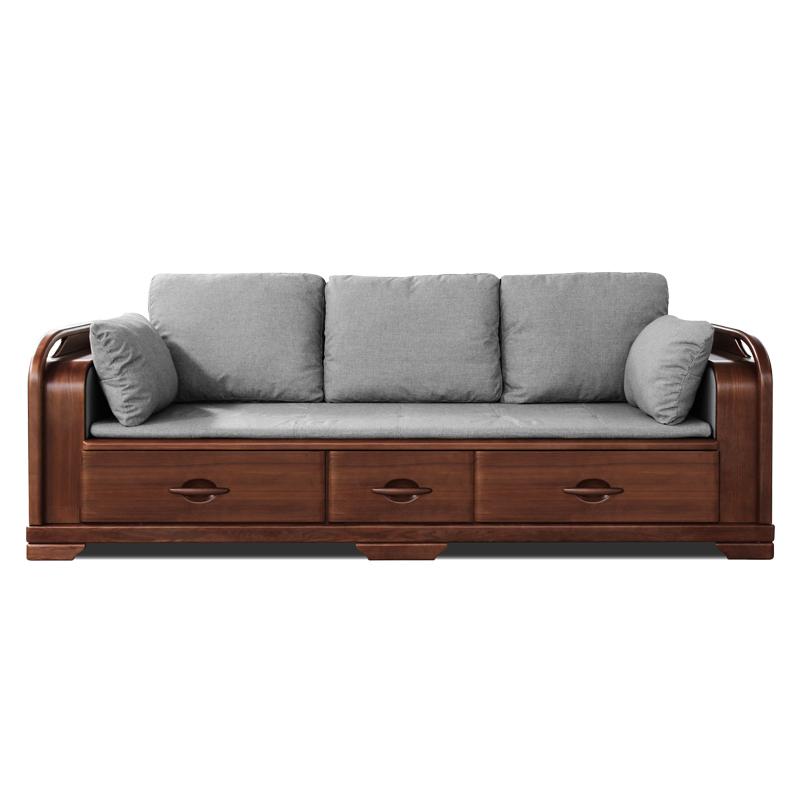 双叶 实木罗汉床古典沙发