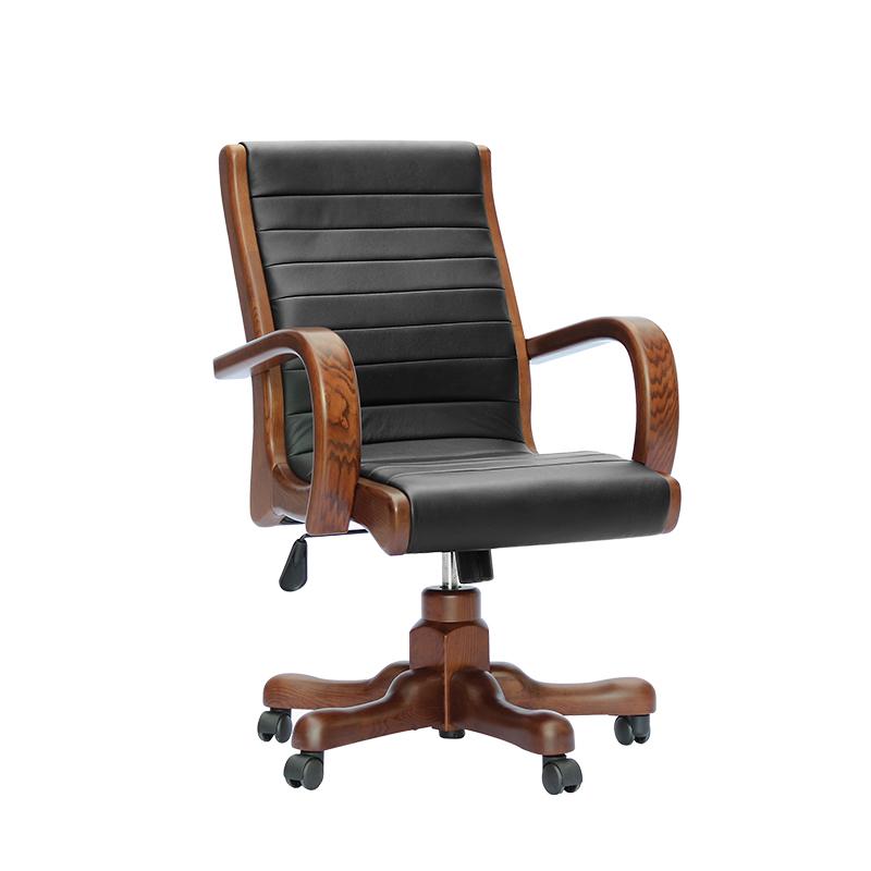 双叶 水曲柳实木转椅班椅