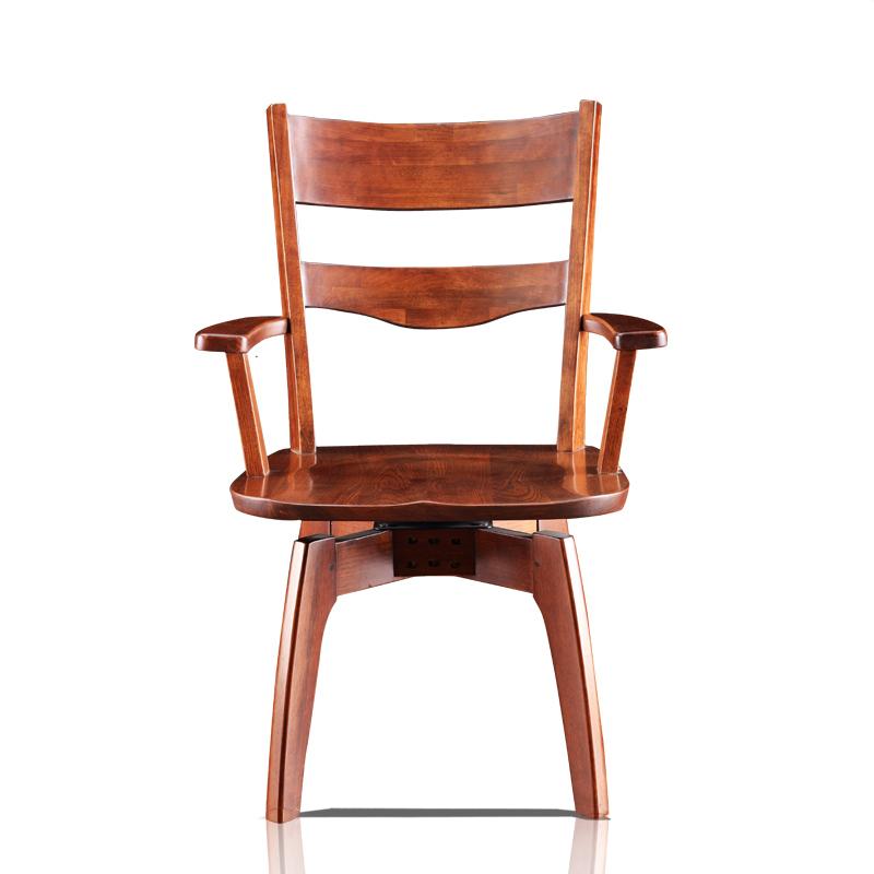 书房实木家具背靠椅 HT83S转椅