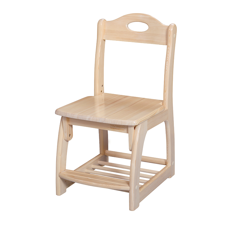 松堡王国 北欧松木儿童学习椅X002