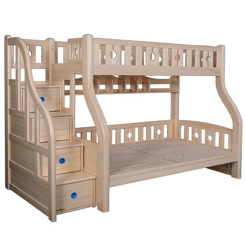 带护栏实木双层床C303M