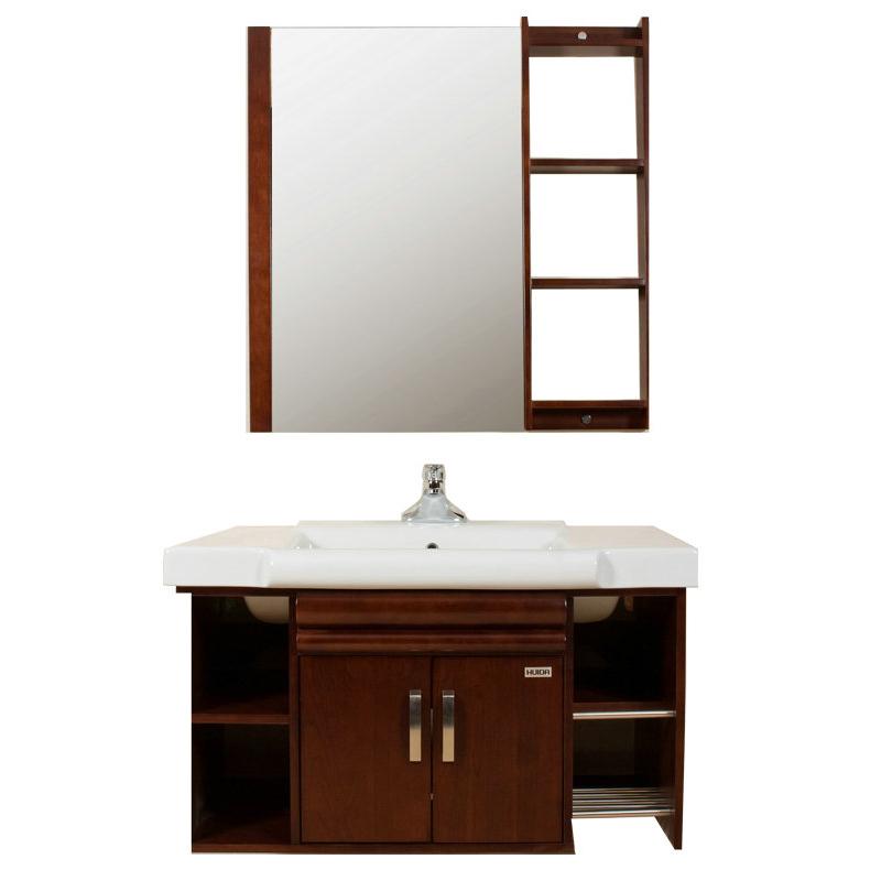 惠达卫浴楸木挂墙浴室柜