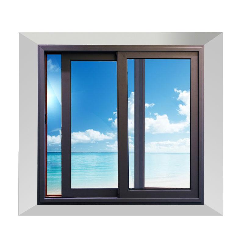 新标门窗 推拉铝合金钢化玻璃窗户