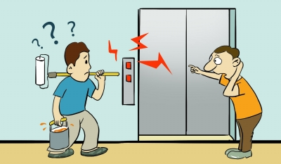 野蛮运输装修材料导致电梯趴窝 维修费谁来出?