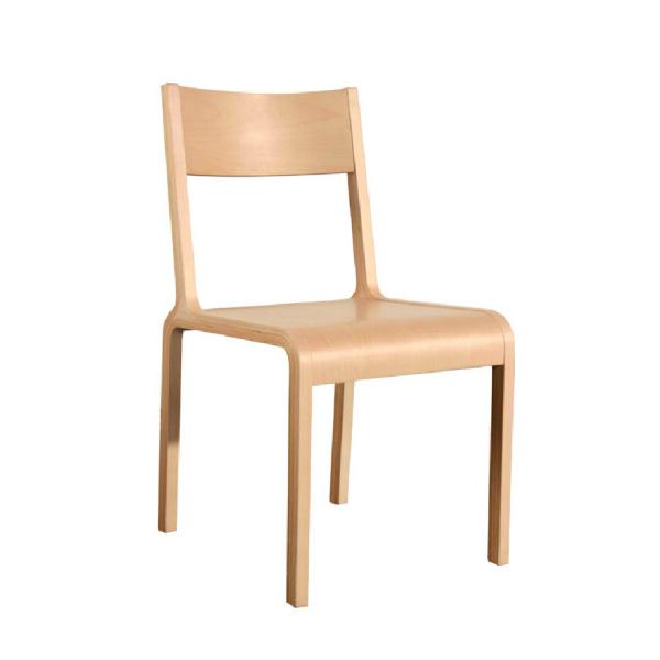 曲美家居 北歐現代餐椅 全白橡色