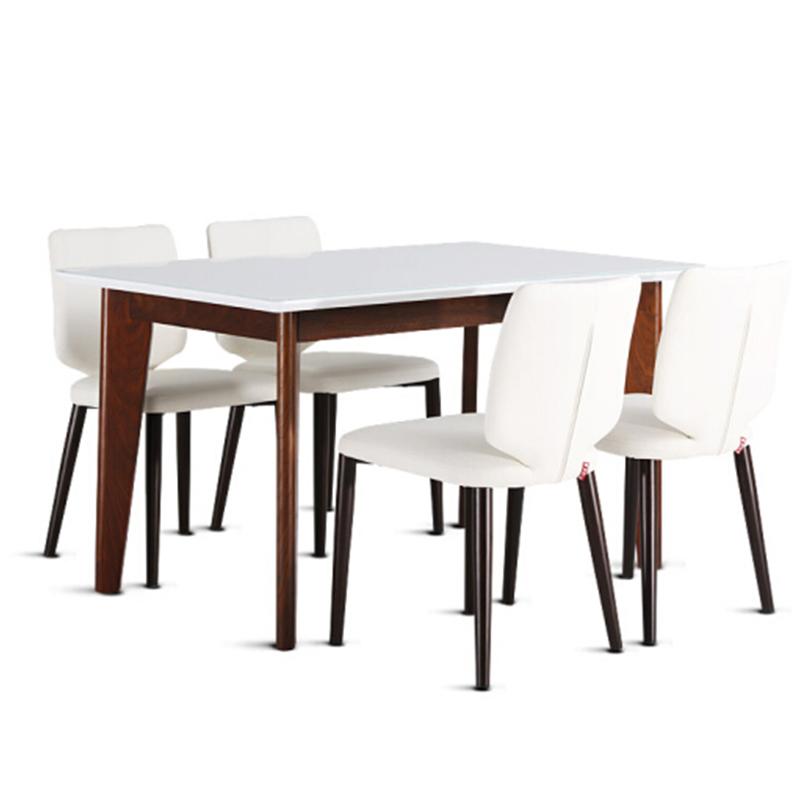顧家 新品白色清新森系餐桌椅
