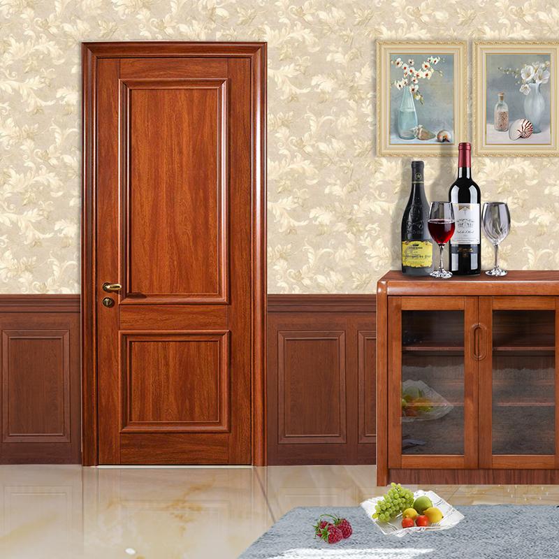 新标 环保静音铝木平开门实木门定制木门