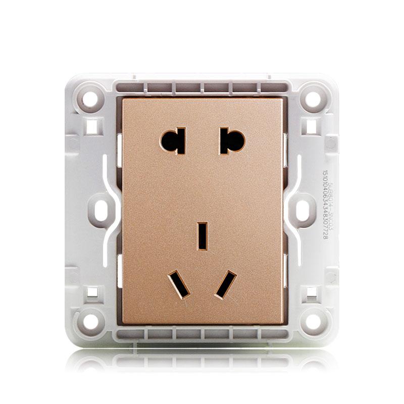 西門子 開關插座面板悅動香檳金墻壁10A5