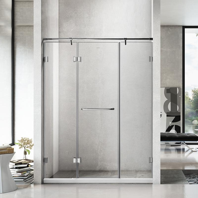 德立淋浴房 整体304全不锈钢一字型S9
