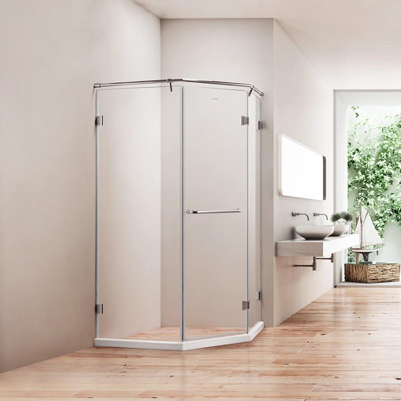 德立淋浴房 整体304全不锈钢钻石型D9