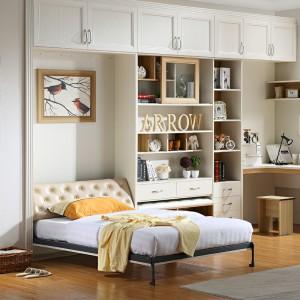 【卡布奇諾】現代時尚書柜翻轉床組合