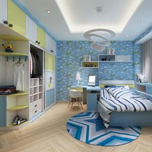 【纯真时代】简约时尚儿童房卧室空间定制
