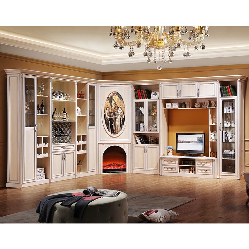 【圣卡罗】欧式客厅组合柜 电视柜壁炉柜酒柜图片
