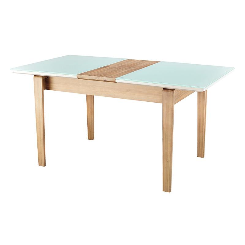 聯邦家具 北歐現代實木可伸縮餐桌