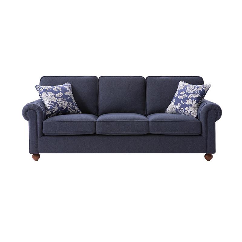 美式可拆洗布艺沙发