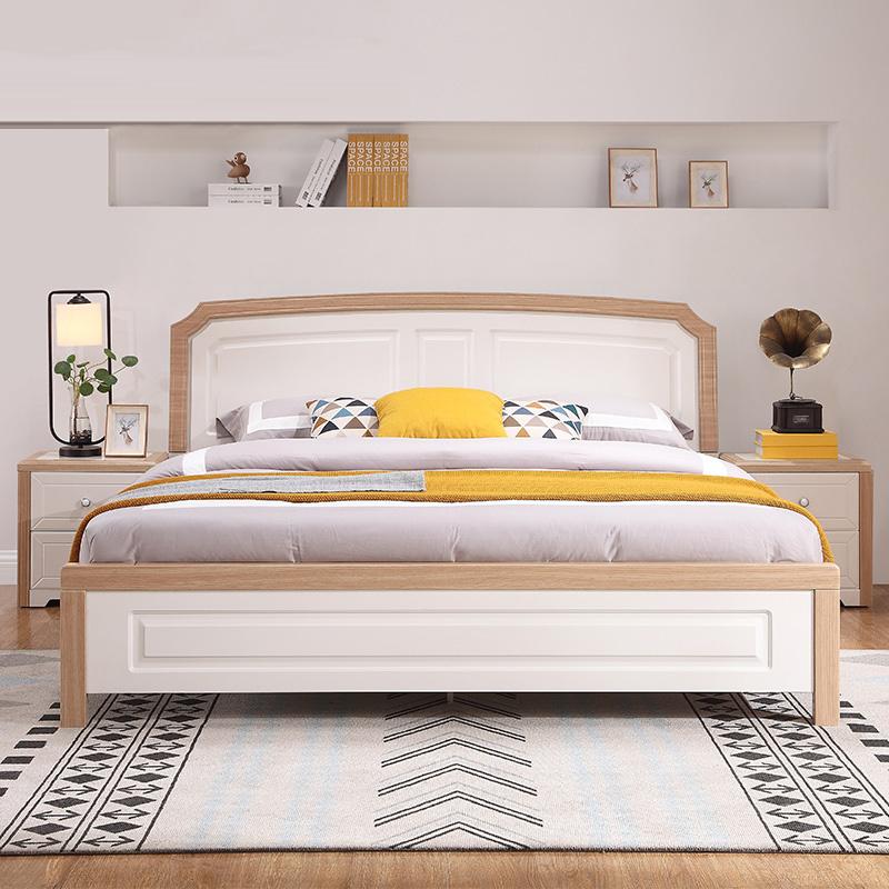 全友家居 簡約歐式床雙人床1.8米