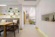 三室二厅简约风,大白墙+橙色门框一点不单调!
