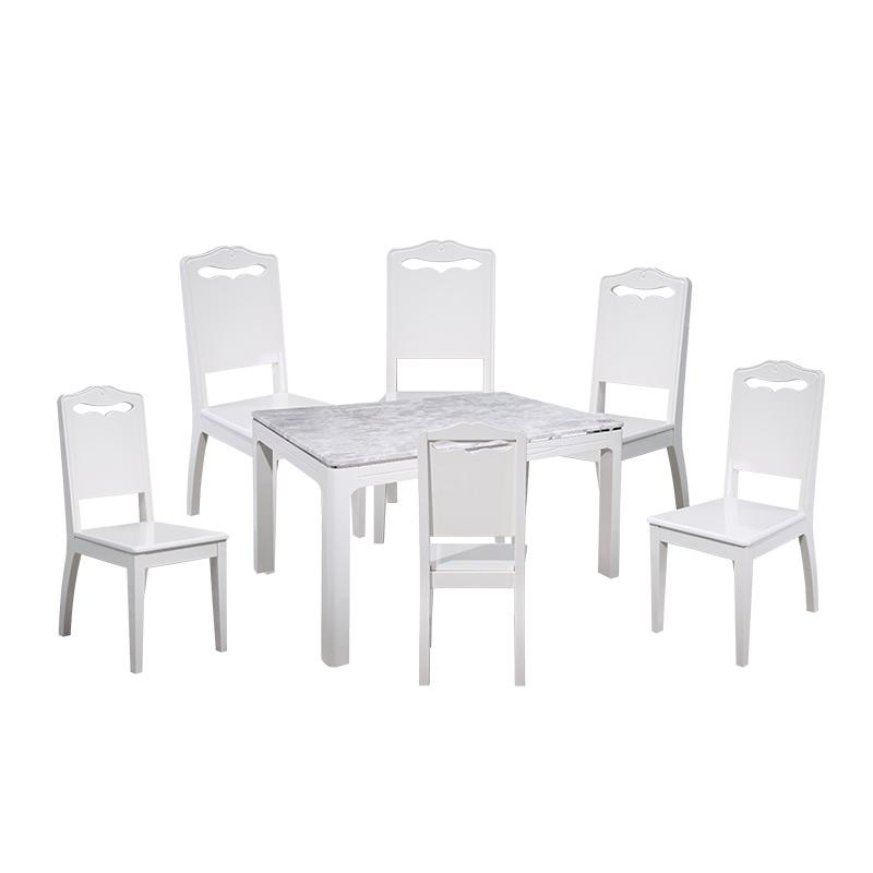 全友家私 天然石餐桌椅方形飯桌組合120329