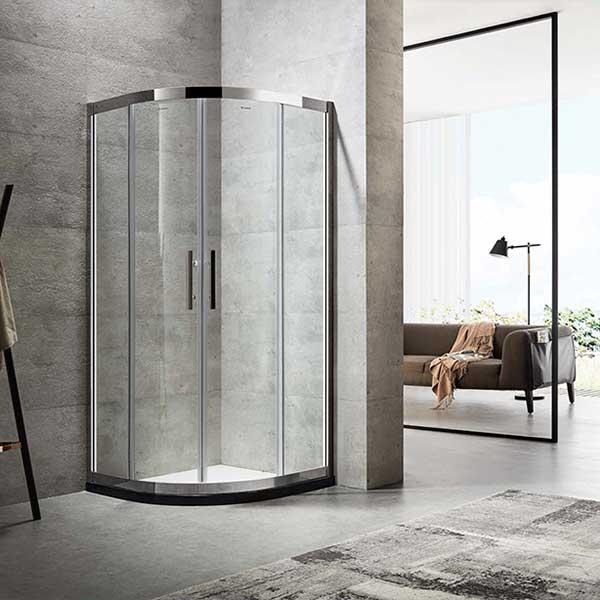 德立淋浴房 圓弧型移門淋浴房定制C9