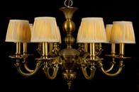 中式全铜吊灯安装