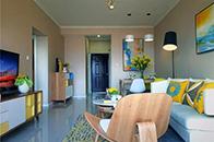 线条干练的中式豪宅,活泼的色彩给你不一样的感受!