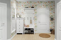用几卷壁纸创造个性 43平小公寓如此出彩