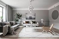 白+灰冷淡色,塑造优雅现代公寓