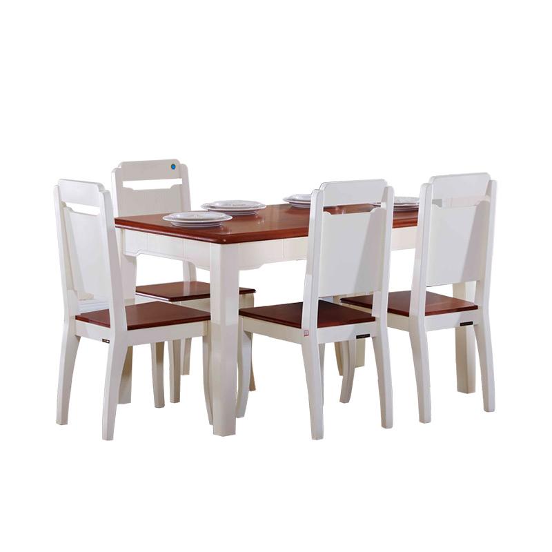 全友家居 美式餐桌椅套装组合121101