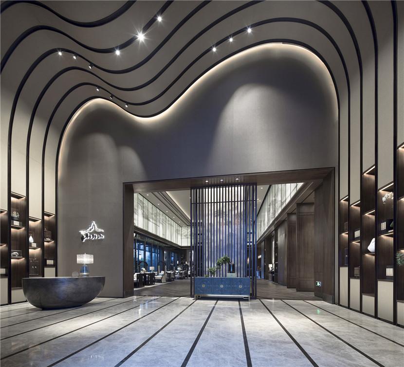 沿袭皇城肌理,恢弘成势,传承千年建筑仪范,室内由创时空设计鼎力担纲.图片