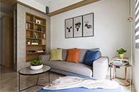 60平现代简约风素雅暖色系的二居室