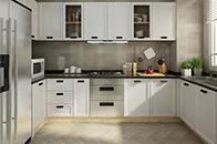 U型厨房解决了转角利用率,同时扩大了厨房的收纳空间