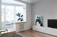 41㎡精致单身公寓,设计使每一平米都灵动起来