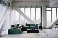 混凝土与金属元素搭配 空间温暖而有质感