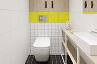 """""""悬浮""""式设计打破传统 让卫浴间更加洁净"""
