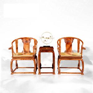 御乾堂红木 皇宫椅三件套