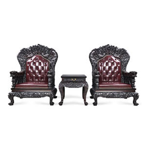泰和园 雕龙沙发