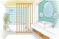 意中陶全卫定制   定?#21697;?#21512;用户习惯的多功能浴室空间