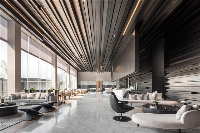 唐忠汉新作丨云影天光舒展视野 线与圆描绘简约中式展售中心