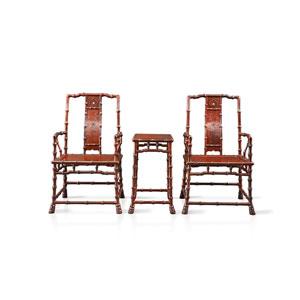 泰和园 当代君子竹节椅
