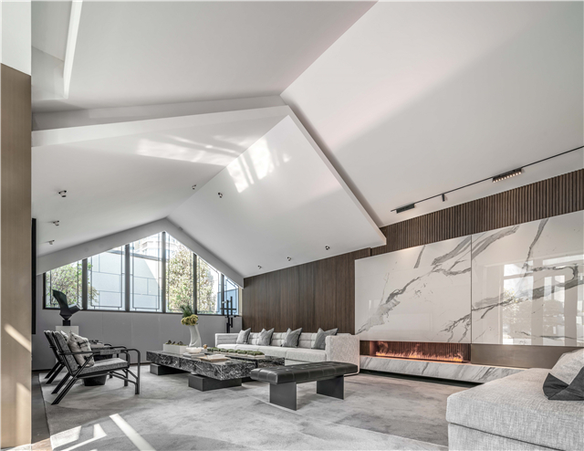 集艾新作丨黑白灰铸造简约空间 用立体主义理念凸显室内建筑感