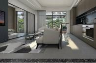 55㎡灰棕+绿,打造怀旧轻时尚风格住宅
