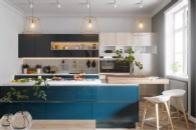 蓝色系厨房设计,就是这么迷人!