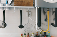 美容院门头装修效果图装修什么时候装燃气热水器?