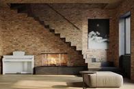 斑驳水泥红砖墙,打造质朴随性的现代风大宅!