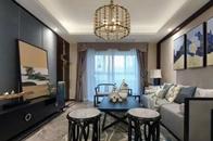 120㎡新中式風格公寓裝修,現代人文雅居