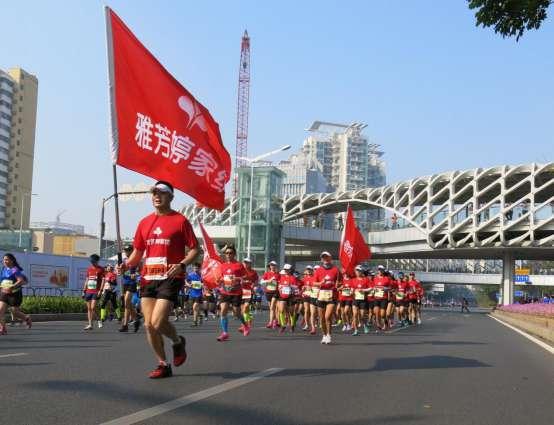 為健康生活奔跑,雅芳婷家紡方陣亮相深圳南山半程馬拉松