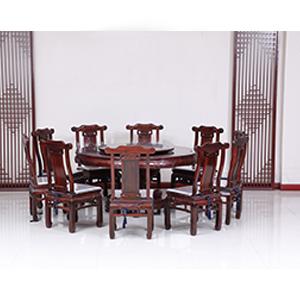古森红木 古韵圆餐桌