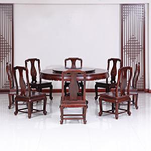 古森红木 明式圆餐桌
